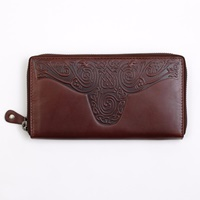 Image for Roisin Ladies Large Leather Wallet, Green by Lee River