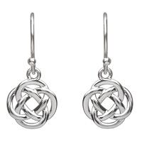 Image for Open Celtic Infinity Drop Earrings