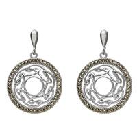 Image for Open Weave Marcasite Earrings