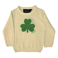 Image for Cream Knit Emerald Shamrock Kids Jumper