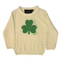Image for Cream Knit Emerald Shamrock Kids Jumper
