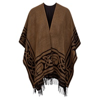 Image for Jimmy Hourihan Celtic Border Shawl, Camel