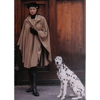 Image for Wool and Cashmere Cape, Deep Red