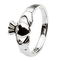 Image for Claddagh Comfort Fit Sterling Silver Gents Ring