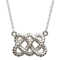 Image for Shanore Sterling Silver Fisherman Necklace