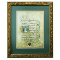 Image for Gold Framed First Corinthians Print 8 x 10