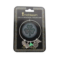 Image for Silver Plated Charm Bracelet with Green Shamrock