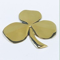 Image for Polished Brass Paper Weight Irish Shamrock Wall Plaque, Large
