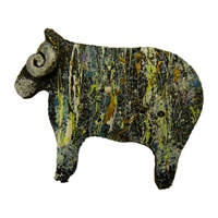 Image for Bill Baber Acrylic Sheep Brooch