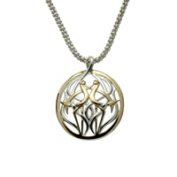 Image for Keith Jack Heron Pendant Gold and Silver Small