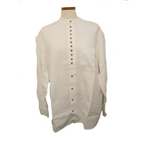 Image for Irish Civilian Heritage Grandfather Shirt - White Linen