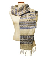 Image for Calzeat Fairisle Bluebell Scarf