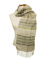 Image for Calzeat Fairisle Clover Scarf