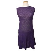 Image for Irish Linen and Cotton Small Sally Dress, Grape