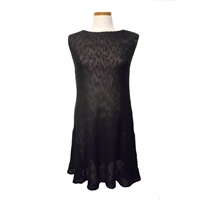 Image for Irish Linen and Cotton Small Sally Dress, Black