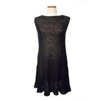 Image for Irish Linen and Cotton Small Sally Dress, Black
