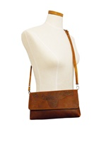 Image for Ciara Leather Clutch Bag with Strap, Tan by Lee River