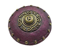 Image for Calzeat Warrior Shield Celtic Brooch, Damson