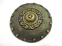Image for Calzeat Warrior Shield Celtic Brooch, Moss