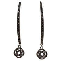 Image for Marcasite Wishbone Celtic Infinity Knot Earrings