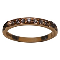 Image for 14K Rose Gold Trinity Shoulder Diamond Set Band