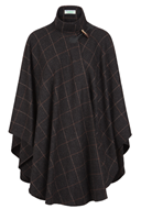 Image for Jimmy Hourihan Irish Cape in Charcoal Grey with Toggle Fastening
