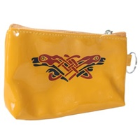 Image for Vinyl Book of Kells Coin Purse Mustard