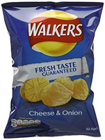 Image for Walkers Cheese & Onion Crisps 32.5g