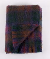 Image for Cushendale Brushed Mohair Throw: Woodland