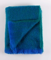 Image for Cushendale Brushed Mohair Throw: Ocean