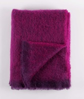 Image for Cushendale Brushed Mohair Throw: Cardinal