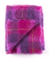 Image for Cushendale Brushed Mohair Throw: Berry