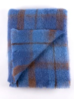 Image for Cushendale Brushed Mohair Throw: Bluebird
