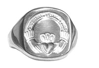 Image for Sterling Silver Claddagh Seal Ring