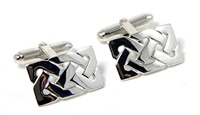 Image for Sterling Silver Celtic Knots Irish Cufflinks
