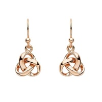 Image for Trinity Knot Fashion Drop Earrings - Rose Gold