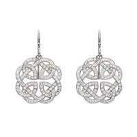 Image for Sterling Silver Celtic Knot Earrings with Swarovski Crystals
