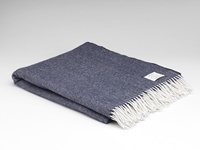 Image for Supersoft Herringbone Throw Blanket, Navy