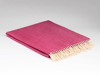 Image for Supersoft Herringbone Throw Blanket, Raspberry Rose
