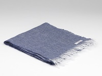 Image for Herringbone Irish Linen Scarf, Navy