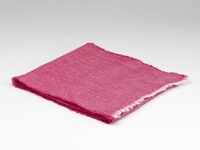 Image for Herringbone Irish Linen Scarf, Fuchsia