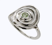 Image for Spiral Swirl Ring with Peridot
