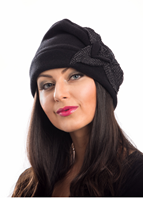 Image for Kate Fleece Hat By Kathleen McAulliffe Black