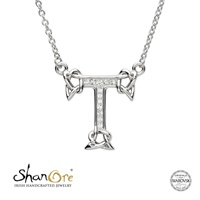 Image for Sterling Silver Swarovski Initial T Pendant