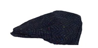 Image for Hanna Vintage Tweed Cap: Blue Herring Bone
