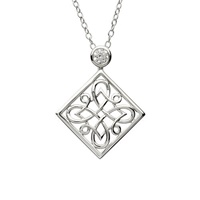 Image for Sterling Silver Celtic CZ Pendant
