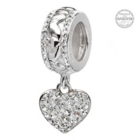 Image for Origin Claddagh Heart Bead Adorned With Swarovski Crystal