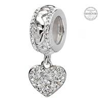 Image for Origin Claddagh Heart Bead Adorned With Swarovski Crystal