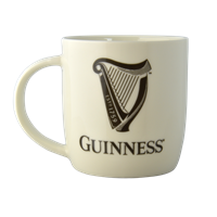Image for Guinness White Mug with Harp and Official  Logo