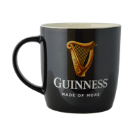 Image for Guinness Black Mug with Harp and Official  Logo